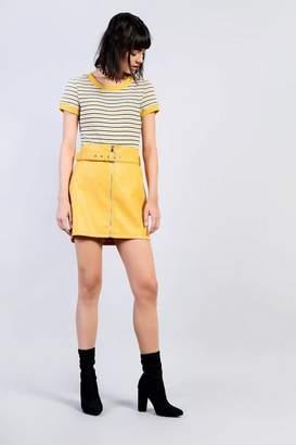 Glamorous Petites **Belted PU Skirt by Petite