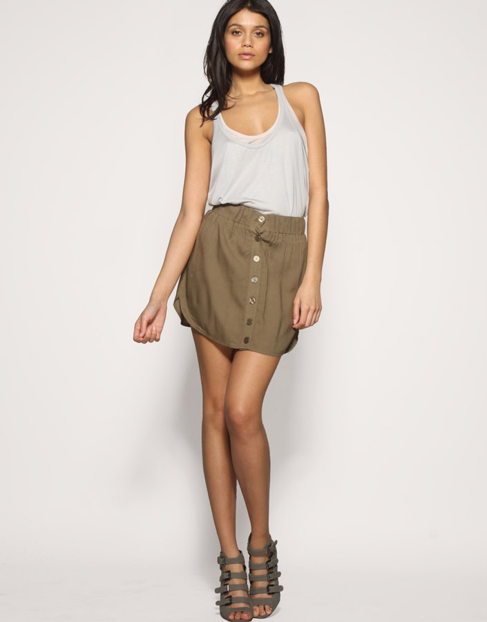 ASOS Button Through Casual Skirt