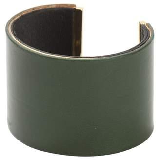 Celine Green Leather Bracelet