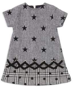 Andy & Evan Baby Girl's& Little Girl's Flocked Star Suiting Dress