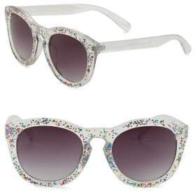 Sam Edelman 57MM Glitter Round Sunglasses