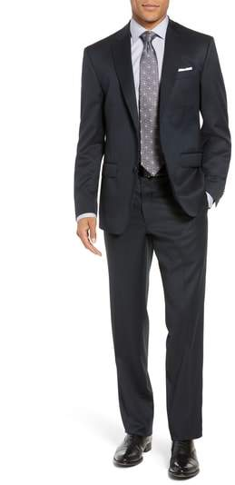John W. Nordstrom(R) Traditional Fit Solid Wool Suit