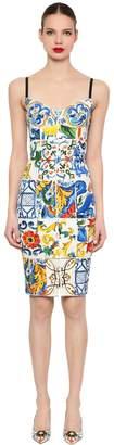 Dolce & Gabbana Maiolica Printed Charmeuse Dress