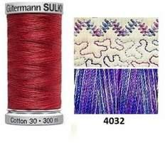 Gutermann Sulky Variegated Cotton 300M Iris