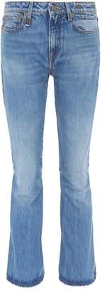 R 13 'Caddy' flared cuff jeans