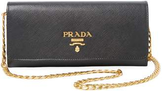 Prada Women's Small Saffiano Wallet On A Chain