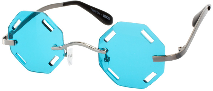 Mauricio Stein For ASOS Handmade Hexagon Sunglasses With Cut Out Lens