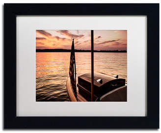 """Chippewa Jason Shaffer 'Chippewa Lake' Matted Framed Art - 14"""" x 11"""""""