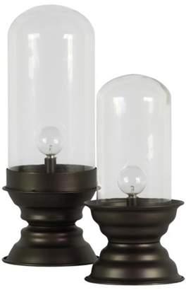 Urban Trends Collection: Metal Lantern Metallic Finish White, Brown