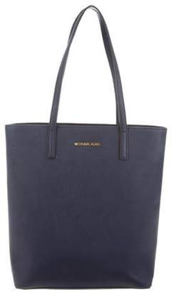 MICHAEL Michael Kors Textured Leather Tote Navy Textured Leather Tote
