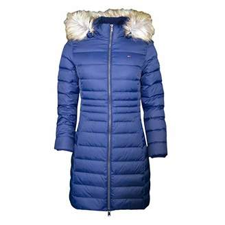 Tommy Hilfiger Tommy Jeans Women's Winter Coat Down Fill Parka Jacket with Faux Fur Hood