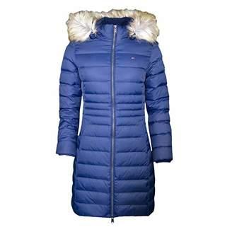 Tommy Hilfiger Tommy Jeans Women's Winter Coat Down Fill Parka Jacket with Faux Fur Hood