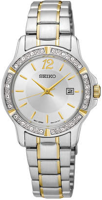 Seiko Women's Two-Tone Stainless Steel Bracelet Watch 28mm SUR718 $260 thestylecure.com