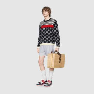 Gucci GG and stripes knit sweater