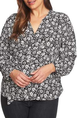 1 STATE 1.STATE Print Wrap Blouse