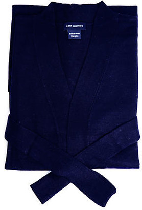 One Kings Lane Cashmere-Blend Robe - Navy