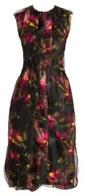 Prada Doppio Floral Print Sleeveless Dress
