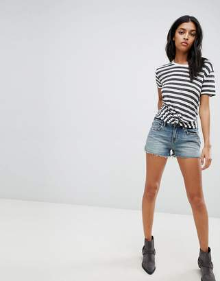 AllSaints denim shorts with stars