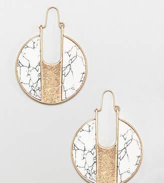 Glamorous marble round earrings (+)