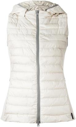 Herno zipped hooded gilet $660 thestylecure.com