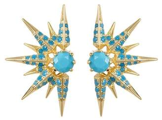 Melinda Maria Barrie Turquoise Spike Earrings