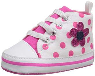 Gerber Girls' Hotpink Polka dot Hitop - K Sneaker