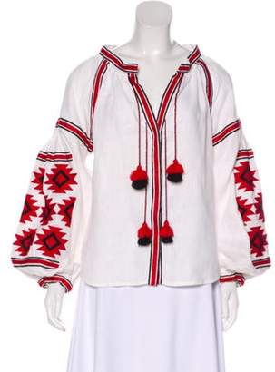 March 11 Long Sleeve Embroidered Blouse White March 11 Long Sleeve Embroidered Blouse