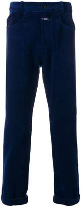 Closed corduroy-style trousers