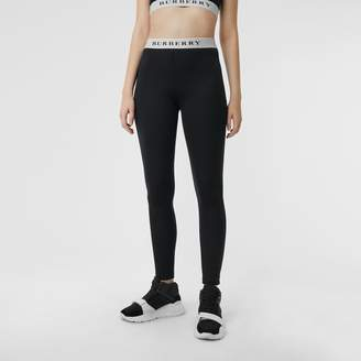 Burberry Logo Detail Jersey Leggings