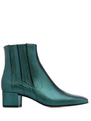 Carel Green Leather Boots