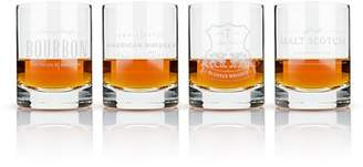 Admiral Etched Whiskey Label Crystal Tumblers by Viski