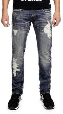 Cult of Individuality Rebel Straight Leg Cotton Jeans