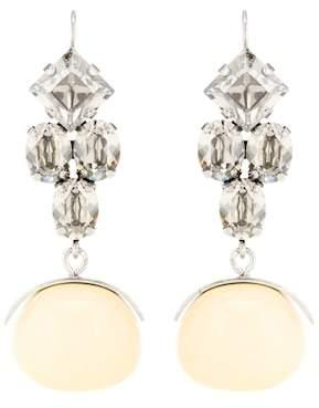 Isabel Marant Crystal wooden drop earrings