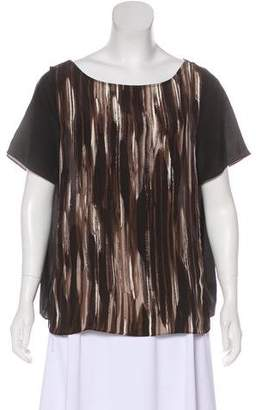 Waverly Grey Short Sleeve Silk Blouse