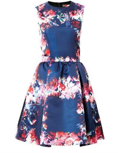MSGM Floral-print day dress