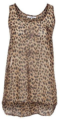 Leopard Print Sheer Vest