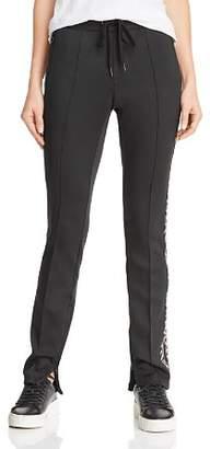 Pam & Gela Leopard Stripe Cigarette Pants