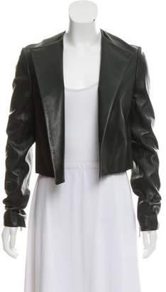 Jason Wu Open Front Leather Jacket