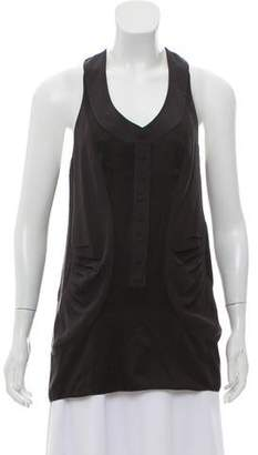 Balenciaga Animal Pattern Silk Blouse
