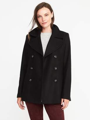 Old Navy Classic Soft-Brushed Peacoat for Women