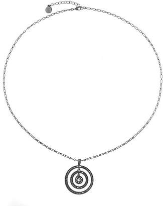 Liz Claiborne Liz Claiborne Gray Round Long Pendant Necklace WTLZl7