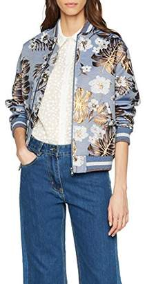Paul & Joe Sister Women's 7lhibiscus Bomber Jacket,(Manufacturer Size: 38)