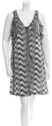 Giamba Silk-Trimmed Crochet Dress w/ Tags