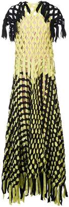 Vionnet ribbon knotted maxi dress