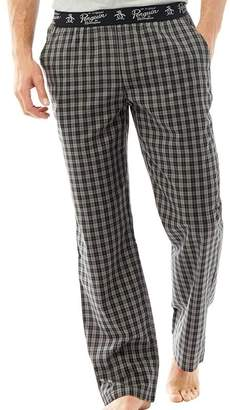Original Penguin Mens Woven Lounge Pants Black Check