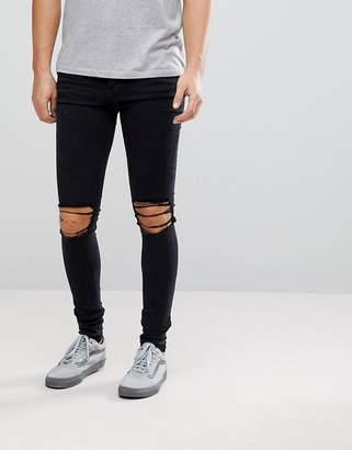 Dr. Denim Leroy Wrecking Black Skinny Jeans