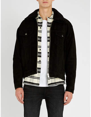 The Kooples Shearling collar leather jacket