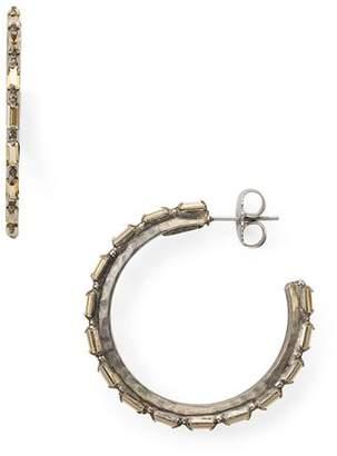 Sorrelli Baquette Crystal Adorned Hoop Earrings - 100% Exclusive