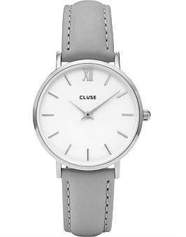 Cluse Minuit Silver White-Grey