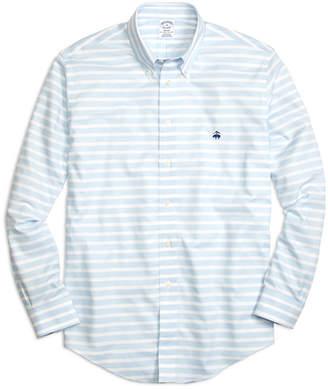Brooks Brothers Non-Iron Regent Fit Horizontal Stripe Sport Shirt
